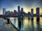 Boston City Dusk Backgrounds