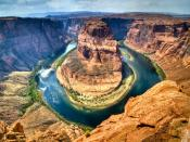 Canyons Round Flow River Backgrounds
