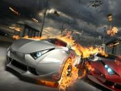 Carshing High Speed Car Race Backgrounds