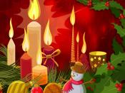 Cartoon Christmas Funny Snowman Candles Gallery Random Backgrounds