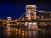 Chain Bridge Budapest Hungary Backgrounds