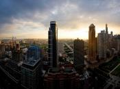 Chicago Sunset Backgrounds