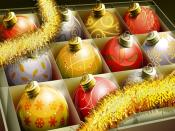 Christmas Balls Box Backgrounds