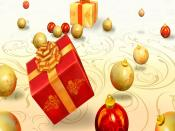 Christmas Flying Gifts Backgrounds