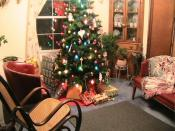 Christmas Room Interior Decoration Backgrounds