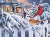 Christmas Scenery Background Download Holiday Occasion Backgrounds