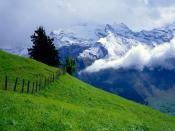 Clouds Passing Over Mountains Backgrounds