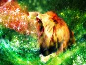 Colored Lion Smoke Backgrounds
