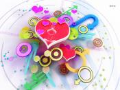 Colorful Hearts and Shapes Backgrounds