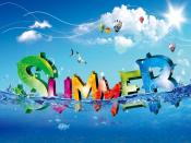 Colourful Cool Summer Backgrounds