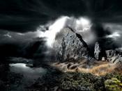 Dark Rocks Water Backgrounds