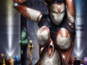 Digital Female Robot Backgrounds