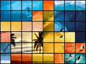 Digital World Squares Backgrounds