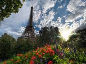 Eiffel Tower Sky Backgrounds