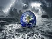 Floating Earth In Ocean Backgrounds