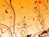Floral Autumn Leafs Design Backgrounds
