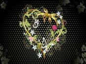 Flower Heart Design Backgrounds