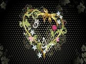 Flower Heart Design Backgrounds