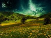 Flower Mountain World Backgrounds