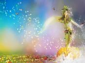 Flowers Fantasy Girl Backgrounds