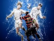 Football Water Splash Backgrounds