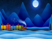 Gift Train For Christmas Backgrounds
