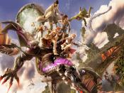 Ginal Fantasy Xiii Game In Action Background