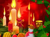Glowing Christmas Candles Backgrounds