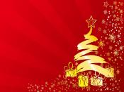 Golden Christmas Tree Backgrounds