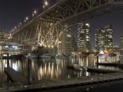 Granville Bridge At Nights Backgrounds