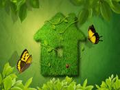 Green Grass House Backgrounds