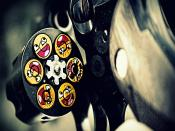 Gun Smiley Face Background