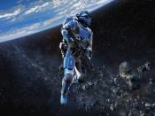 Halo Space Action Game Backgrounds