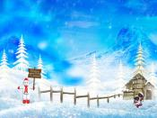 Happy Christmas Winter Holidays Backgrounds