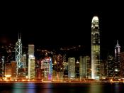 Hong Kong Towers At Night Backgrounds