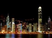 Hong Kong Towers At Night Backgrounds
