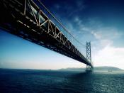 Japan Akashi Kaikyo Bridge Backgrounds