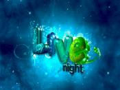 Live Night Digital Graphics Backgrounds