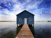 Lonesome House In Waterscapes Backgrounds