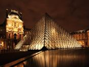 Louvre Pyramid Shape Backgrounds