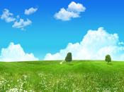 Lovely Green Landscape Backgrounds