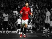 Manchester Ronaldo In Field Backgrounds
