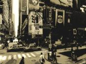 Monochrome New York Broadway Backgrounds