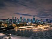 Montreal Night Cityscapes Backgrounds