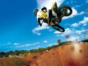 Motorcross Bike Jump Backgrounds