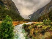Mountain River Flow Backgrounds