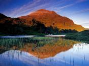 Mountain Surrounding Lakes Backgrounds