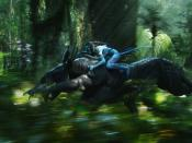 Navi Warrior On Thanator In Avatar Movie Backgrounds