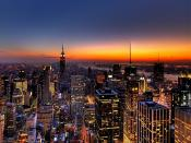 New York Skyline At Sunset Backgrounds