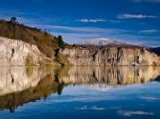 New Zealand Lake Blue in St Bathans Backgrounds